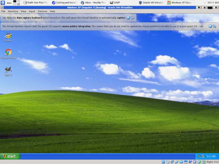 VirtualBox running on Bob Zimmerman's Linux KDE system