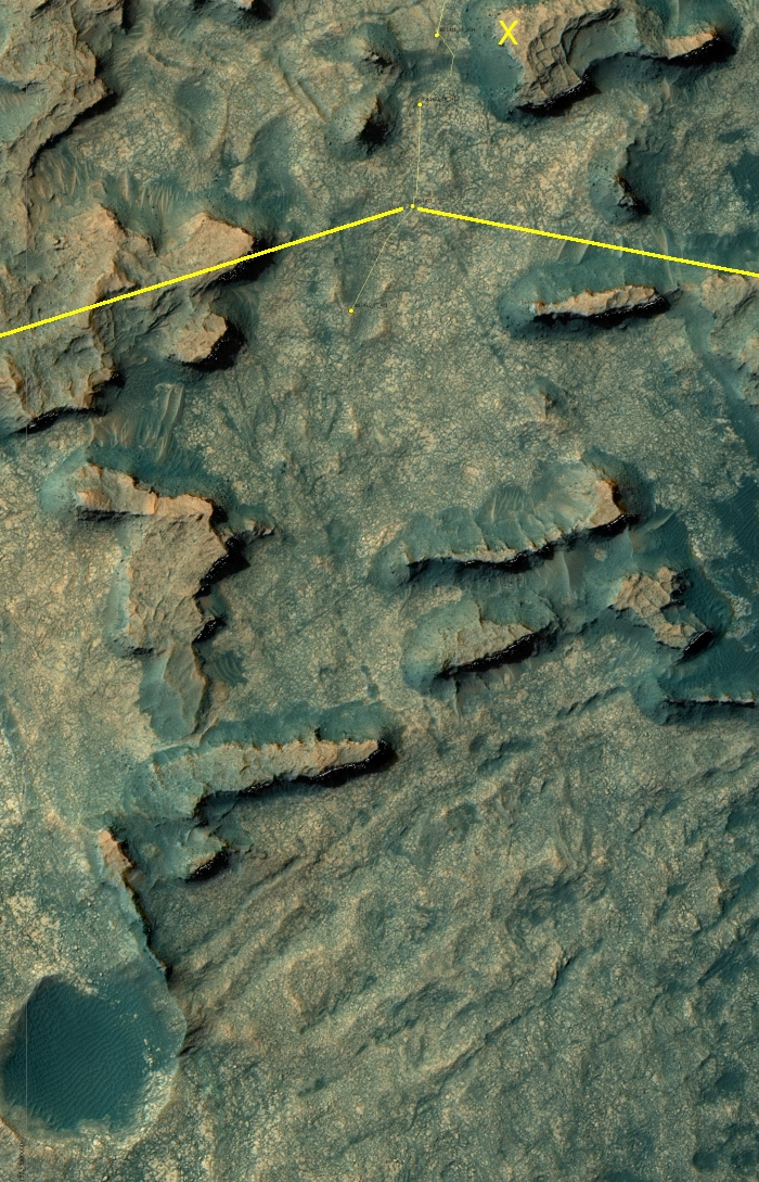 Curiosity path beyond Murray Buttes