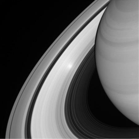 A bright spot in Saturn's rings