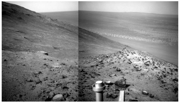 Lewis and Clark Gap within Endeavour Crater's rim