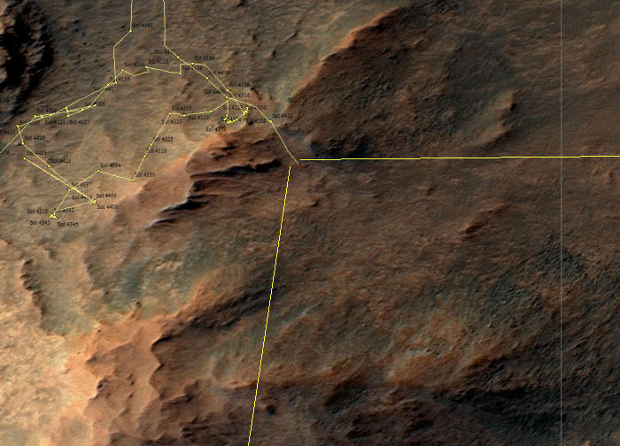 Opportunity's exit from Lewis & Clark Gap