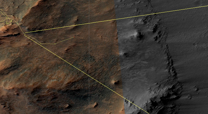 Sol 4493 traverse map