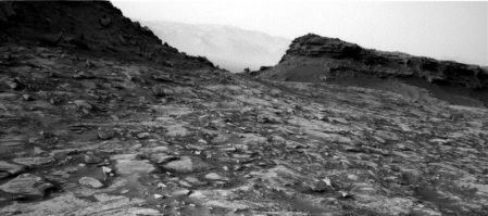 Looking back at Murray Buttes