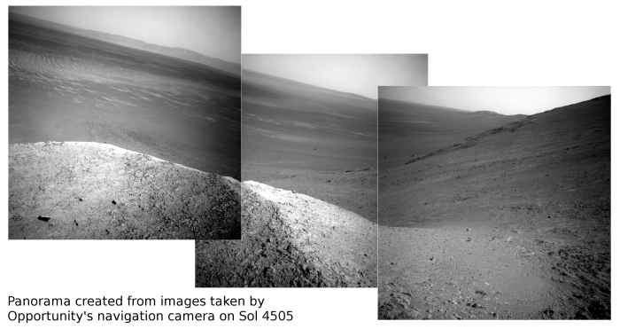 Panorama from Sol 4505 images