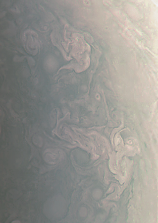 Storms at Jupiter's pole