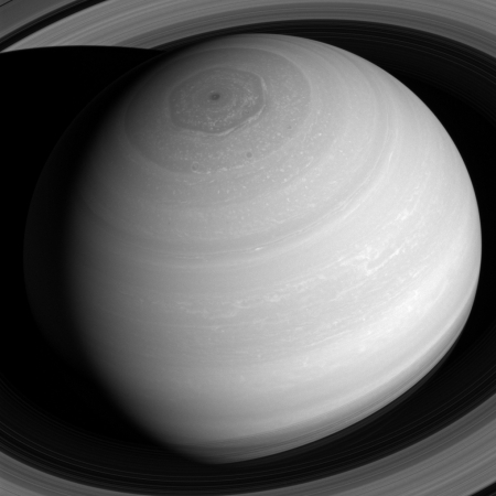 Saturn from above.