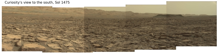 Curiosity looking west, Sol 1475