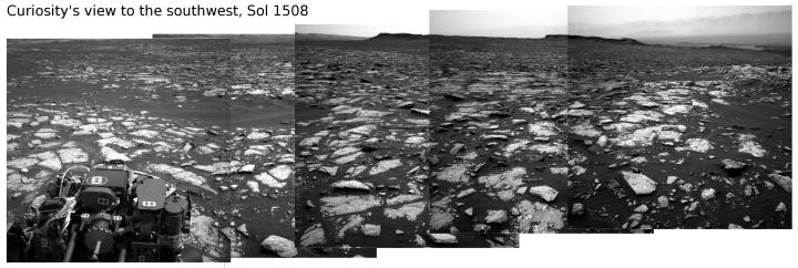 Curiosity panorama, Sol 1507