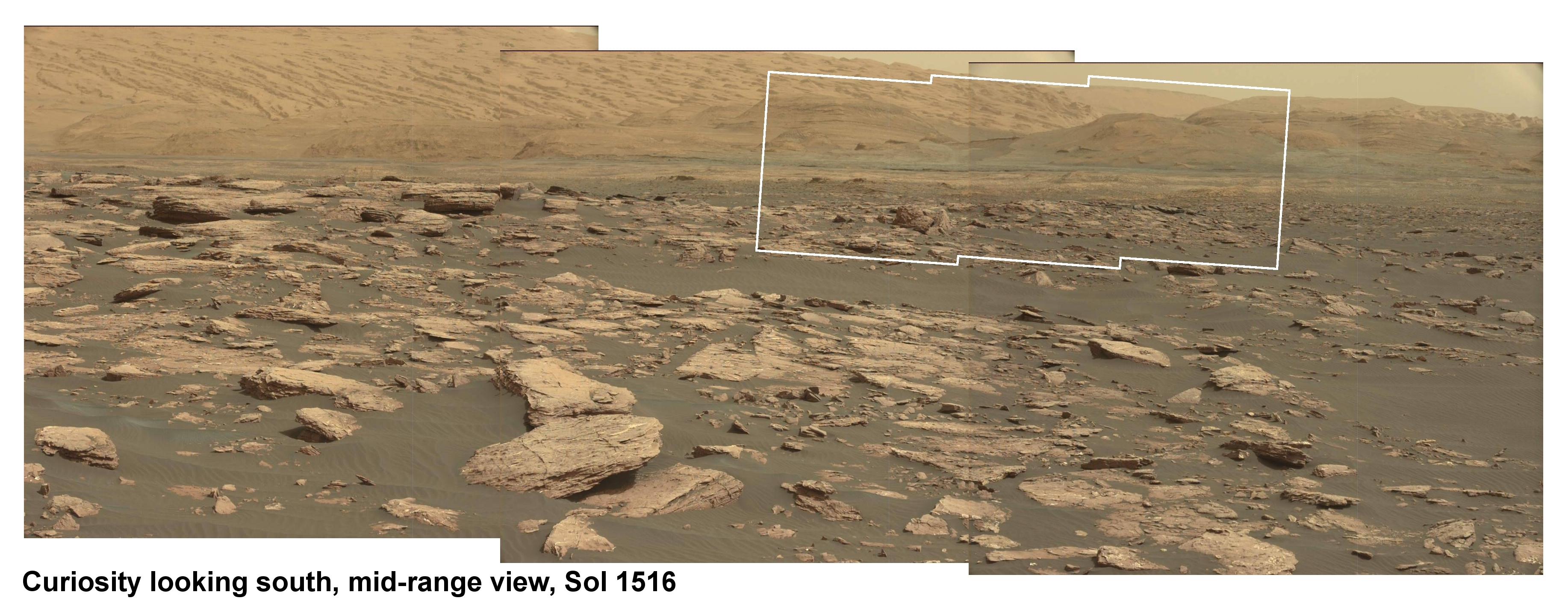 Mid view of future Curiosity route