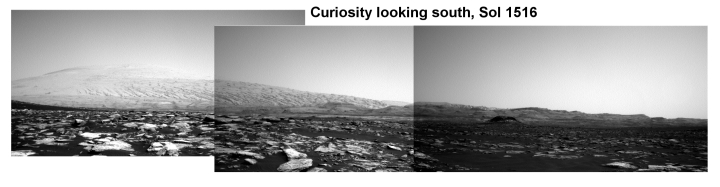 Curiosity looking south, Sol 1516