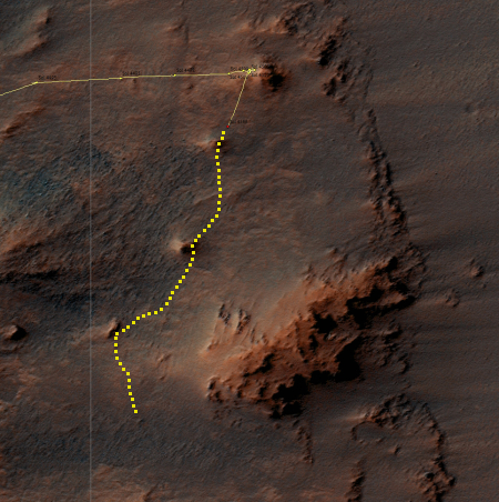 Opportunity's location, Sol 4546