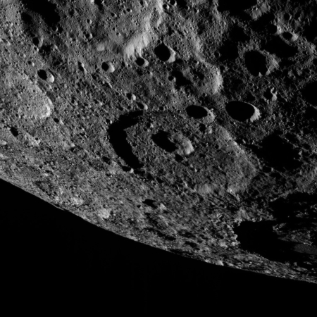 Ceres' crated surface