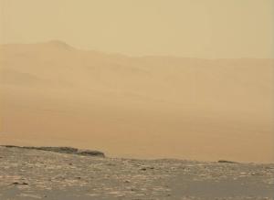 Mars' dusty sky