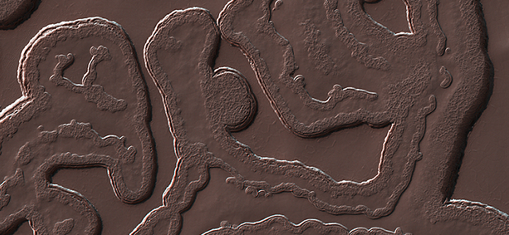 Mars' south pole region