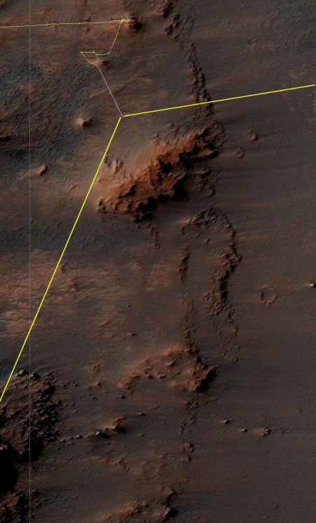 Opportunity's location, Sol 4569