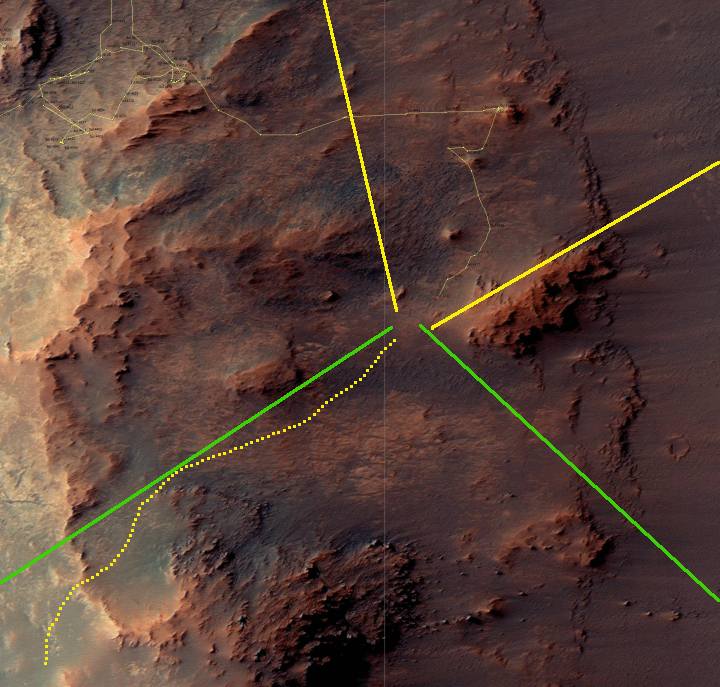 Opportunity's location, Sol 4582