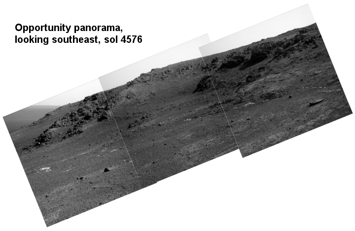 Opportunity looking southeast, Sol 4576