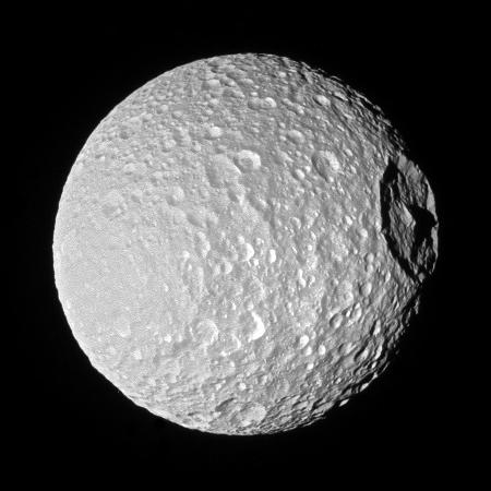 Herschel Crater on Mimas