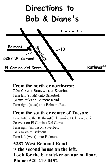 Directions to the Zimmermans