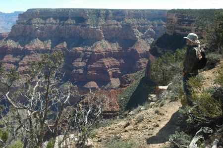 David Vidonic on the south rim trail