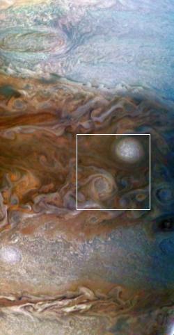 Full image of Jupiter reduced and annotated