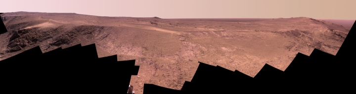 Color panorama by Opportunity April 2017