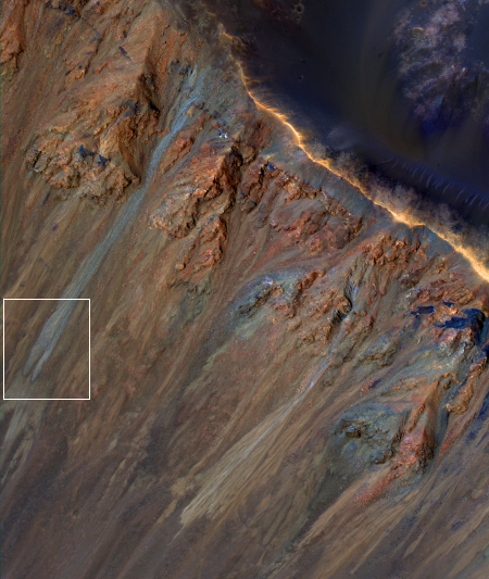 Krupac Crater gullies