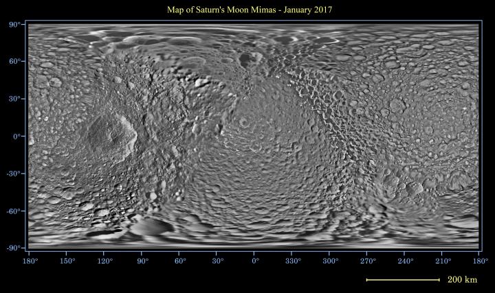 Global map of Mimas
