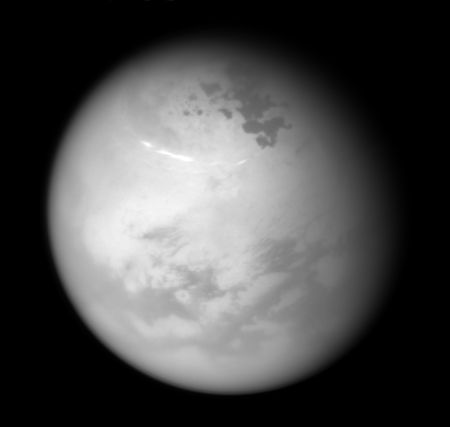 Titan's clearing northern skies