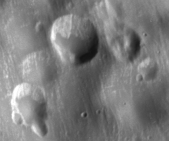 close-up of soft craters
