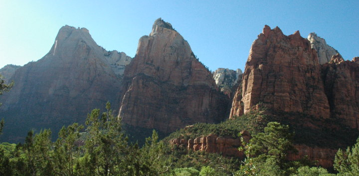 Abraham, Isaac, and Jacob peaks in Zion