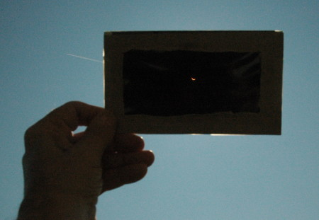 The eclipse approaching totality