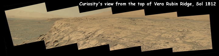 Curiosity's view from on top of Vera Rubin Ridge, sol 1812