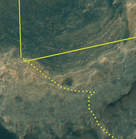Curiosity's location, Sol 1802