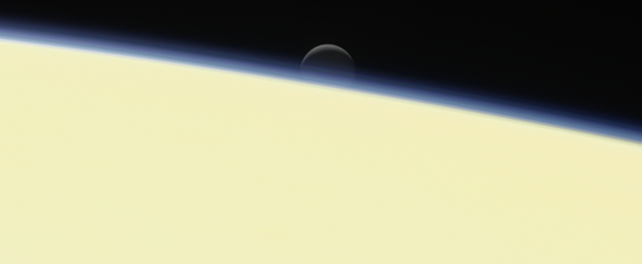 Enceladus as seen by Cassini two days before mission end