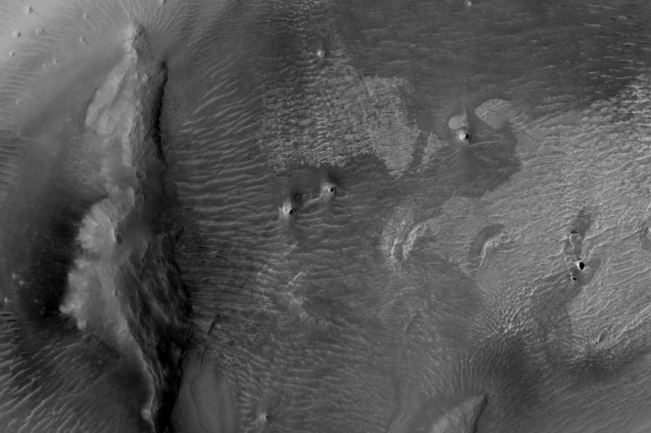 Close-up on the dark splotch