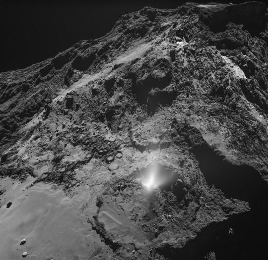 Dust jet on Comet 67P/C-G
