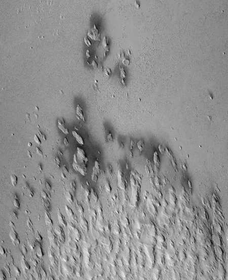 Yardangs on Mars