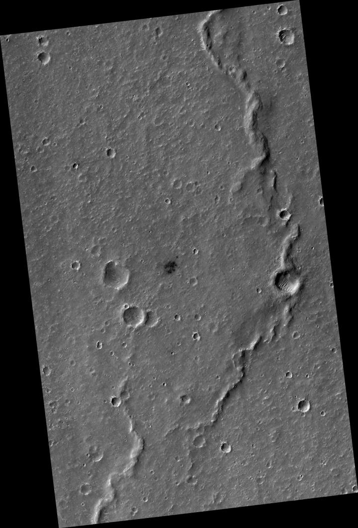 Center location of InSight's landing region
