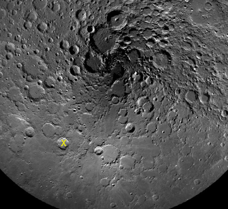 Philolaus Crater near lunar north pole