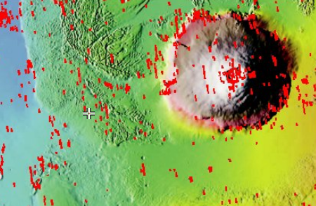 Location of flow, west of Olympus Mons