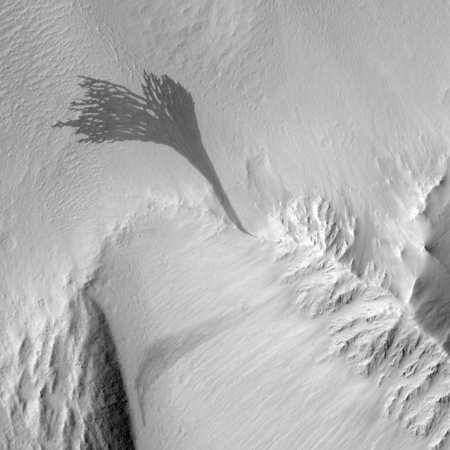 Massive flow on Mars