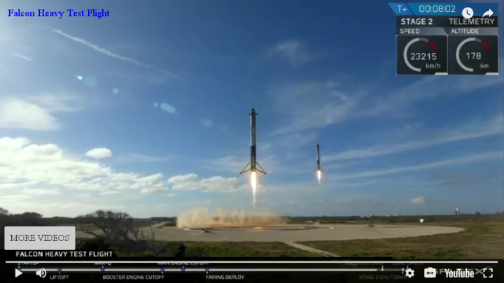 Two Falcon Heavy boosters landing simultanously