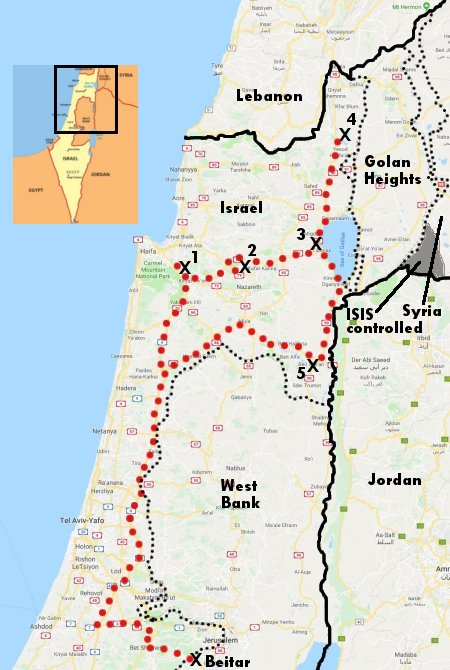 Journeying through northern Israel
