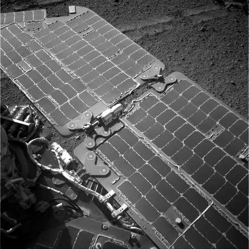 Opportunity's solar panels