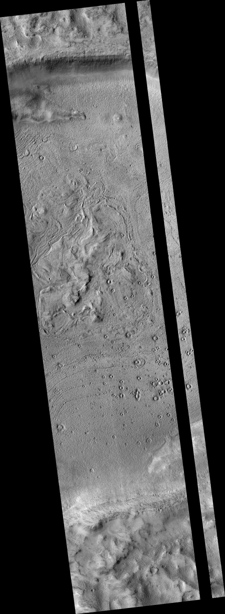 Low resolution of full image of crater