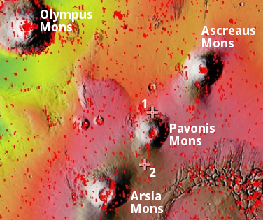 Overview of the volcanic Tharsis Bulge on Mars