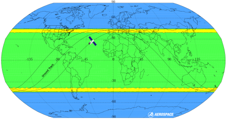Tiangong-1's likely landing locations