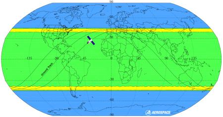 Tiangong-1 landing map