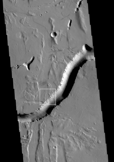 Mars Odyssey close-up of Olympica Fossae
